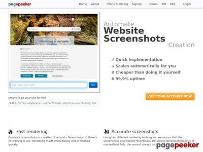 Internetowa strona dostawcy gwintów.